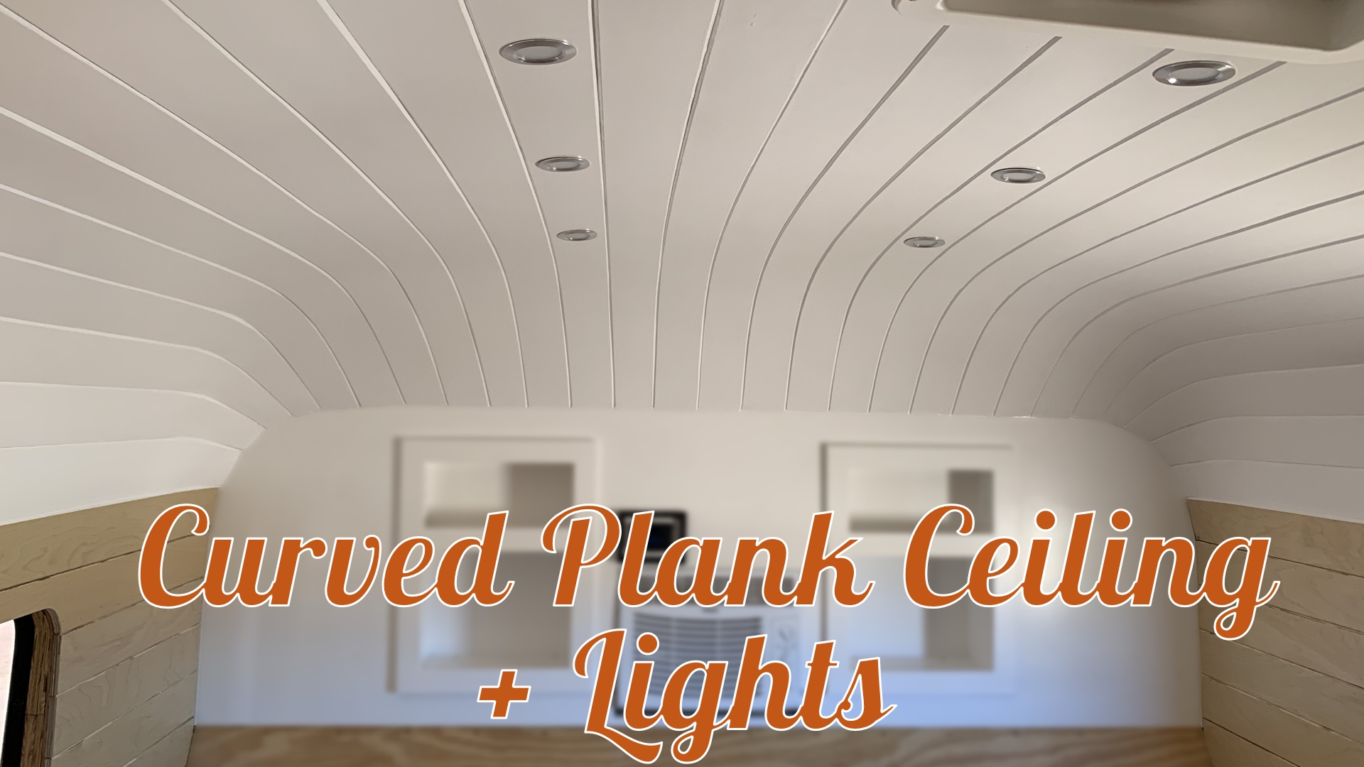 Curved Planked Ceiling in the Kids' Room & Wiring the Lights