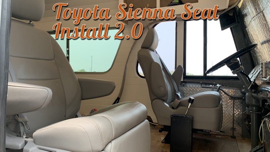 Toyota Sienna Seats in an RV - Part 2: Redo with New Swivel Base & Sliders